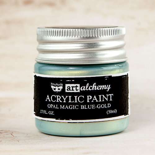 Prima - Finnabair - Art Alchemy - Acrylic Paint - Opal Magic - Blue Gold
