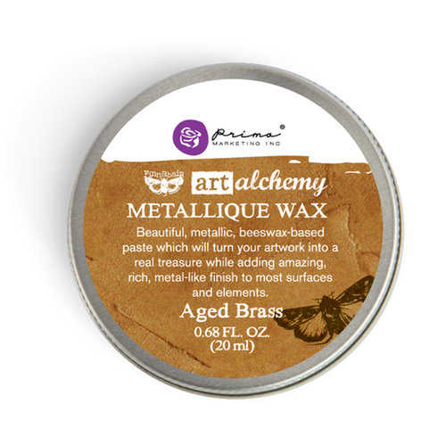 Prima - Finnabair - Art Alchemy - Metallique Wax - Aged Brass
