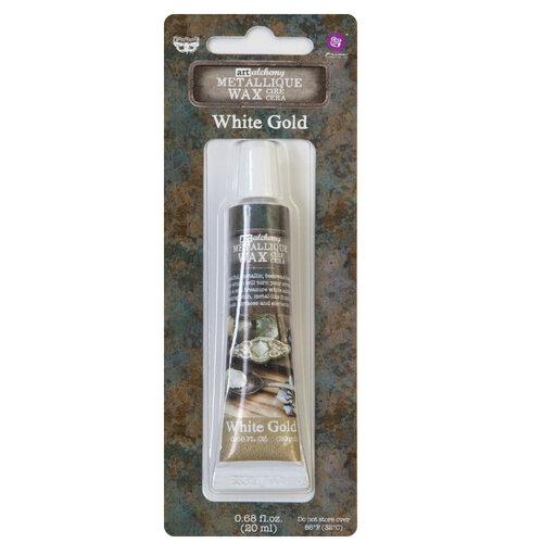 Prima - Finnabair - Art Alchemy - Metallique Wax - White Gold