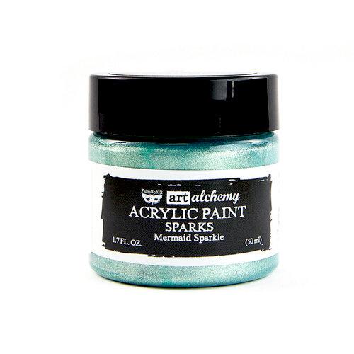 Prima - Finnabair - Art Alchemy - Sparks Acrylic Paint - Mermaid Sparkle