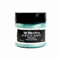 Prima - Finnabair - Art Alchemy - Sparks Acrylic Paint - Mermaid Sparkle