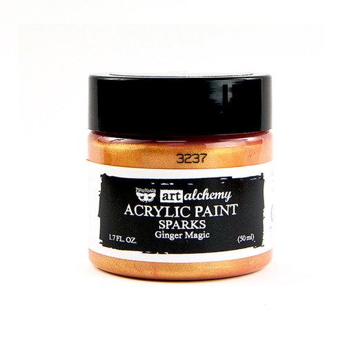 Prima - Finnabair - Art Alchemy - Sparks Acrylic Paint - Ginger Magic