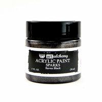 Prima - Finnabair - Art Alchemy - Sparks Acrylic Paint - Raven Black