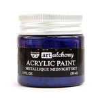 Prima - Finnabair - Art Alchemy - Acrylic Paint - Metallique - Midnight Sky
