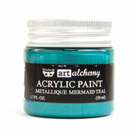 Prima - Finnabair - Art Alchemy - Acrylic Paint - Metallique - Mermaid Teal