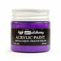 Prima - Finnabair - Art Alchemy - Acrylic Paint - Metallique - Crocus Fields
