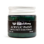 Prima - Finnabair - Art Alchemy - Acrylic Paint - Metallique - Dark Forest