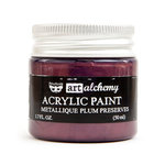 Prima - Finnabair - Art Alchemy - Acrylic Paint - Metallique - Plum Preserves