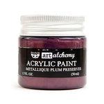 Prima - Finnabair - Art Alchemy - Acrylic Paint - Metallique - Plum Preserves