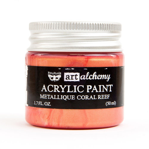 Prima - Finnabair - Art Alchemy - Acrylic Paint - Metallique - Coral Reef