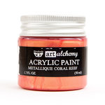 Prima - Finnabair - Art Alchemy - Acrylic Paint - Metallique - Coral Reef