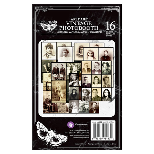 Prima - Art Daily Planner Collection - Sticker Pad - Vintage Photobooth