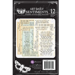 Prima - Art Daily Planner Collection - Sticker Pad - Sentiments