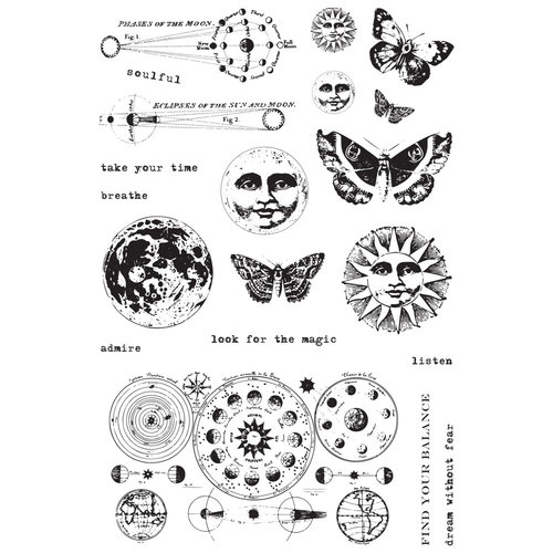 Prima - Art Daily Planner Collection - Cling Mounted Stamps - Dream Without Fear