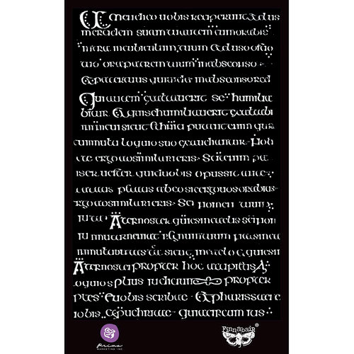 Prima - Stencil Mask - 6 x 9 - Manuscript