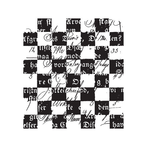 Prima - Finnabair - Clear Acrylic Stamps - Checkered Texts