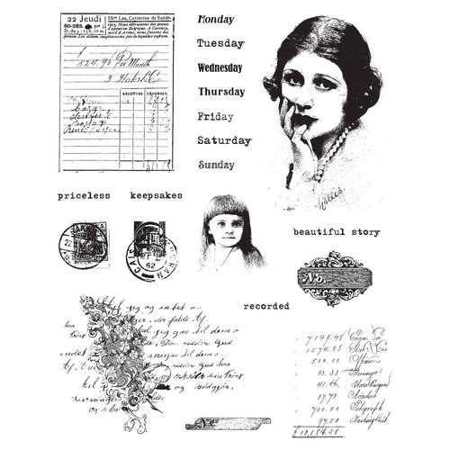 Prima - Finnabair - Cling Mounted Stamps - Beautiful Story