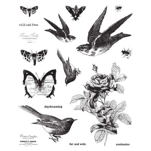 Prima - Finnabair - Cling Mounted Stamps - Wild and Free