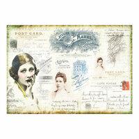 Prima - Finnabair - Tissue Paper Sheet - Carte Postale