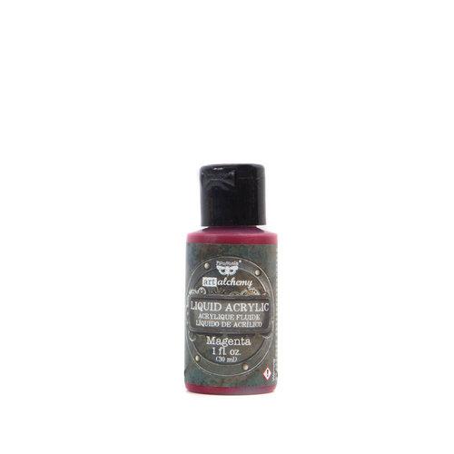 Prima - Finnabair - Art Alchemy - Liquid Acrylic Paint - Magenta