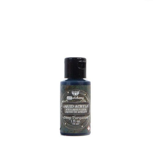 Prima - Finnabair - Art Alchemy - Liquid Acrylic Paint - Deep Turquoise