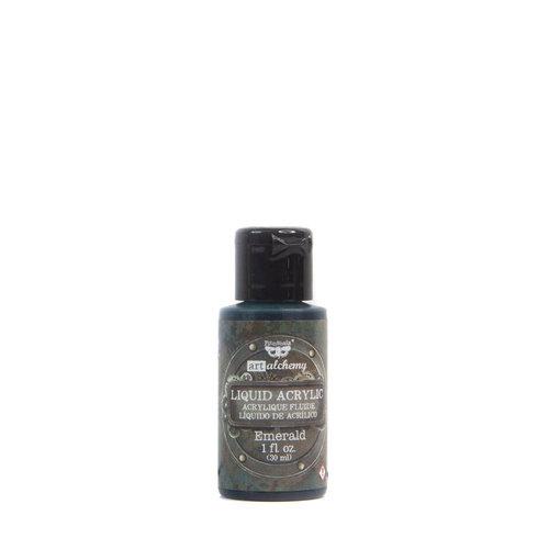Prima - Finnabair - Art Alchemy - Liquid Acrylic Paint - Emerald