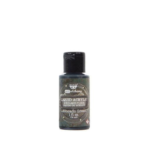 Prima - Finnabair - Art Alchemy - Liquid Acrylic Paint - Avocado Green