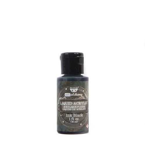 Prima - Finnabair - Art Alchemy - Liquid Acrylic Paint - Ink Black
