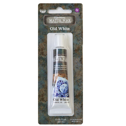 Prima - Finnabair - Art Alchemy - Matte Wax Paste - Old White