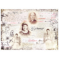 Prima - Finnabair - Tissue Paper Sheet - Notes