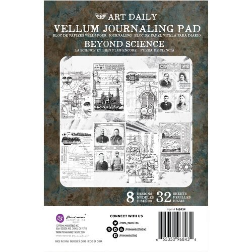Prima - Art Daily - Vellum Journaling Pad - Beyond Science
