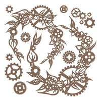 Prima - Finnabair - Decorative Chipboard - Steampunk Wreath
