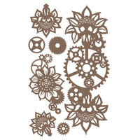 Prima - Finnabair - Decorative Chipboard - Machine Floral Decors