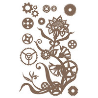 Prima - Finnabair - Decorative Chipboard - Steampunk Flowers