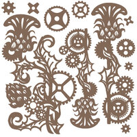 Prima - Finnabair - Decorative Chipboard - Mechanical Thistle