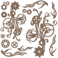 Prima - Finnabair - Decorative Chipboard - Mechanical Flourishes