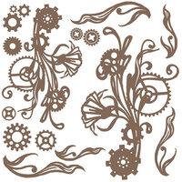 Prima - Finnabair - Decorative Chipboard - Mechanical Flourishes