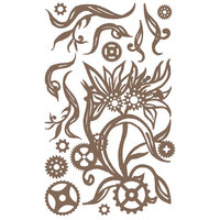 Prima - Finnabair - Decorative Chipboard - Steampunk Blooms