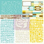 Prima - Wishes and Dreams Collection - 12 x 12 Cardstock Stickers - Type and Tabs