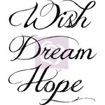 Prima - Wishes and Dreams Collection - Cling Mounted Rubber Stamps - Two