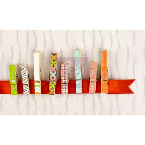 Prima - Pocket Book Pad Collection - Canvas Covered Wood Clips