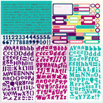 Prima - Wishful Thinking Collection - 12 x 12 Cardstock Stickers - Type and Tabs