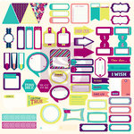Prima - Wishful Thinking Collection - 12 x 12 Cardstock Stickers - Journaling Spot