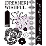 Prima - Wishful Thinking Collection - Cling Mounted Rubber Stamps - One