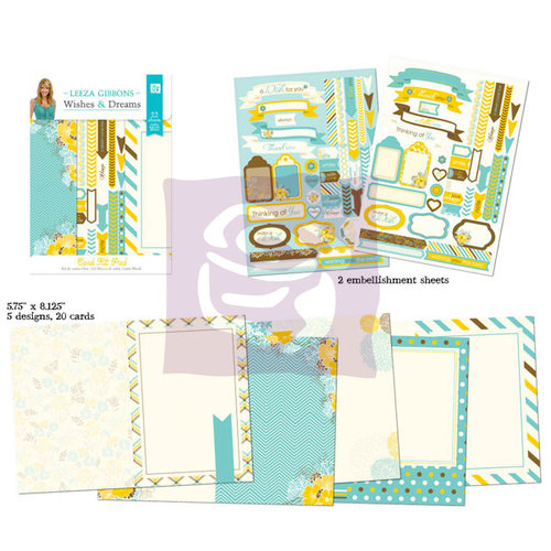 Prima - Wishes and Dreams Collection - Card Kit Pad