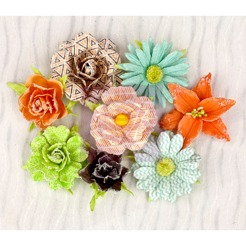 Prima - Pocket Book Pad Collection - Flower Embellishments - Roses