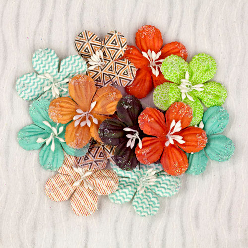 Prima - Pocket Book Pad Collection - Flower Embellishments - Daisies