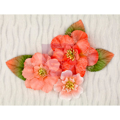 Prima - Pocket Book Pad Collection - Flower Embellishments - Large Flowers