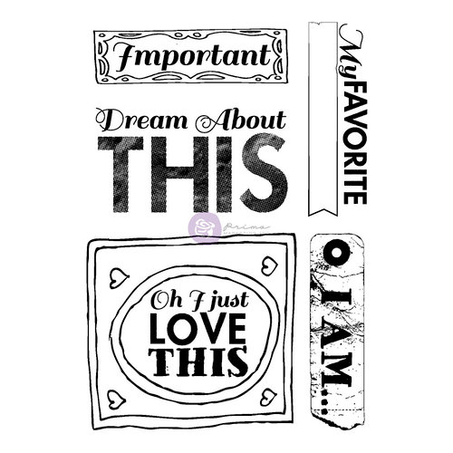 Prima - Leeza Gibbons - All About Me Collection - Cling Mounted Rubber Stamps