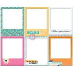 Prima - Leeza Gibbons - All About Me Collection - Polaroid Chipboard Frames